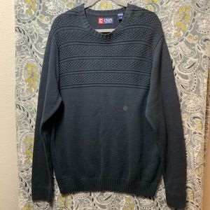 CHAPS Men's Large Blue Crewneck Knit Sweater